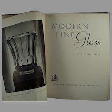 Vintage 1937 Reference Book - Modern Fine Glass by Leloise Davis Skelley