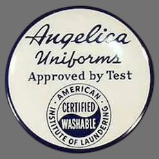 Vintage Celluloid Advertising Tape Measure for Angelica Monte Cloth Uniforms