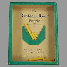 Vintage 1960's Dexterity Skill Game Puzzle - Golden Rod