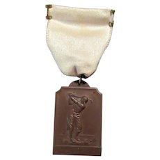 Vintage Bronze Golf Sports Medal – Early 1900's – No Inscription