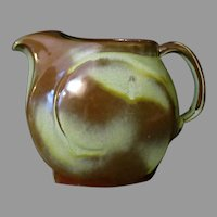 Vintage Frankoma Pottery - Lazybones 4D Serving Pitcher - Sapulpa Clay, Prairie Green Glaze