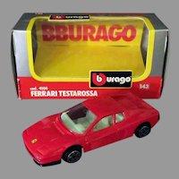 Bburago Die Cast Ferrari Testarossa Model Car – Made in Italy with Box, 1983