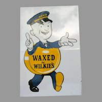 Vintage Decals – 3, Waxed by Wilkie's Advertising with Waxie Character