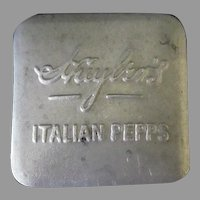 Vintage Huyler's Italian Pepps Candy Tin - Early 1900's Aluminum Advertising Tin