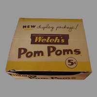 Vintage Welch's Pom Poms Candy Box – 5c Display Box