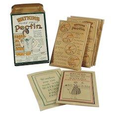 Vintage J.R Watkins Fruit Pectin Box with Nice Early Kitchen Graphics