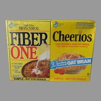Vintage Sample Cereal Boxes – Fiber One and Cheerios, 30yr Old Sealed Double Pack