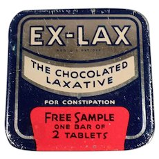 Vintage Ex-Lax Laxative Sample Tin - Old Medical Advertising Tin