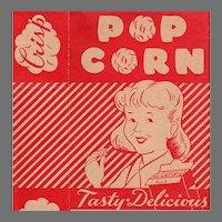 Vintage Popcorn Box - Empire State Nut Company Popcorn Box with Boy & Girl