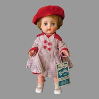 1960's Vintage Horsman Ruthie Doll with Original Outfit and Hang Tag