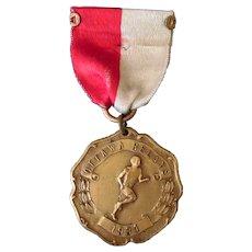 Vintage 1931 Ottawa Relays Sports Medal – 1st Place Pole Vault
