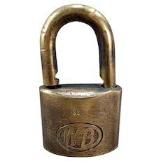 Vintage Wilson Bohannan Brass Padlock – WB #622 Shackle Lock
