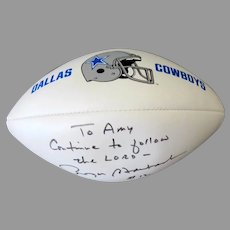 Vintage Dallas Cowboy, Wilson NFL, Roger Staubach Autographed Football