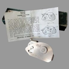 Vintage K & E #2702 Paper Cutter with Box & Instructions - Keuffel & Esser