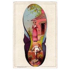 Vintage Antique Advertising Trade Card – Hafertepen Boot and Shoes Hamilton, Ohio