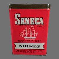 Vintage Spice Tin - Seneca Nutmeg by Empress  Advertising Tin