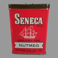 Vintage Spice Tin - Seneca Nutmeg by Empress  Advertising Tin