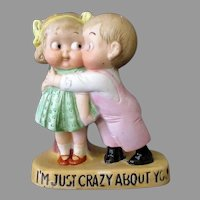 Vintage Porcelain Whimsy – I'm Just Crazy About You S & V Match Holder