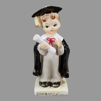Vintage Norcrest Porcelain Boy Graduate - Graduation Congratulations Figurine