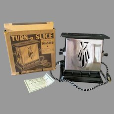 Vintage Sun-Chief Turn-a-Slice Electric Toaster with Original Box - It Works