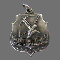 Vintage 1956 Silver Sports Medal – Pacific Northwest Archery Association