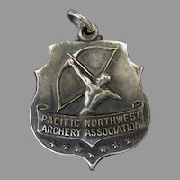 Vintage 1956 Silver Sports Medal – Pacific Northwest Archery Association