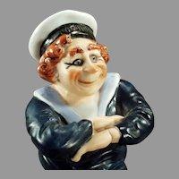 Vintage Schafer and Vater Porcelain - Dreadnought Sailor S & V Whimsy