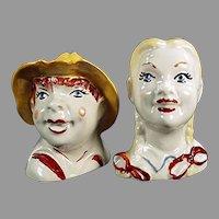 Vintage Regal China #392 Old Mac Donald Salt and Pepper Set Boy & Girl