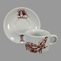 Vintage Coffee Cup and Saucer Restaurant China – Prairie Dog / Ground Hog