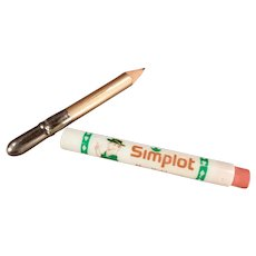 Vintage Bullet Style Pencil with Simplot Company Advertising