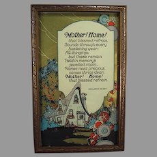 Vintage Motto Print with Beautiful Graphics - Mother! Home! by John Jarvis Holden