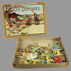 Vintage Ark Dominoes Game - Colorful Game with Animal Graphics