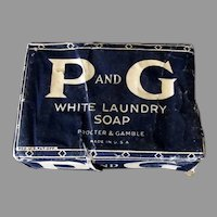 Vintage P and G White Laundry Soap – Proctor & Gamble Soap Bar