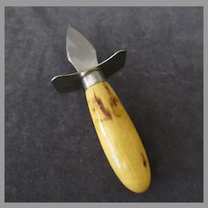 Vintage Oyster Knife/Clam Shucker with Hilt Guard Stand