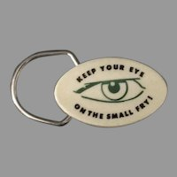 Vintage Advertising Keychain – Keep Your Eye on the Small Fry – Weber Bank