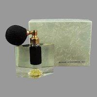 Vintage Evans Arlene Perfume Atomizer -  Lucite with Yellow Flower - Original Box