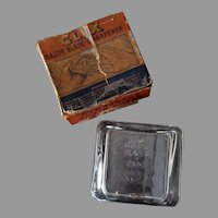 Vintage Safety Razor Blade Sharpener - Glass Clix with Original Box