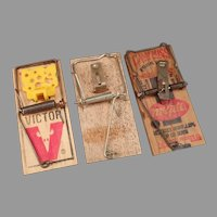 Three Vintage Mouse Traps – Victor and McGill Can't Miss - Group of 3