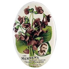 Vintage Celluloid Advertising Pocket Mirror for Mennen's Violet Talcum Powder