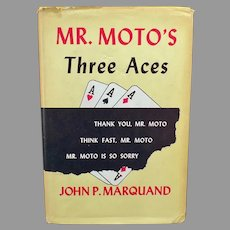 Vintage 1938 Marquand Harbound Mystery Novel - Mr. Moto's Three Aces Book