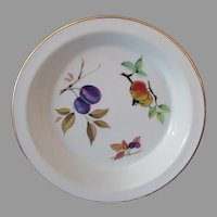 Vintage Royal Worcester Gold Rimmed Pie Baker Server Dish - 1960's Evesham Pattern