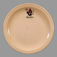 Vintage 1969 Chicken in the Rough Advertising Restaurant China Dinner Plate