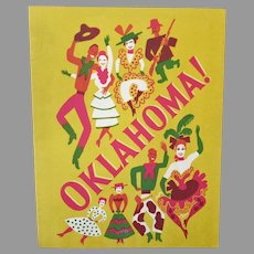 Vintage Souvenir Theatre Program for Rogers & Hammerstein's Musical Oklahoma