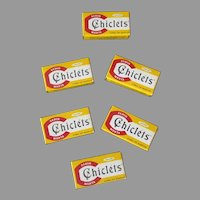 Six Vintage Adams Mint Chiclets – Yellow Boxes