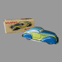 Vintage Wind Up Miniature Toy Car – Distler Mighty Midget with Original Box
