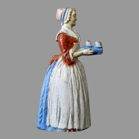 Vintage Baker's Chocolate Girl Advertising Figural Pencil Sharpener