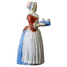 Vintage Baker's Chocolate Girl Advertising Figural Pencil Sharpener