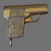 Vintage Pencil Sharpener – Small Pistol with Eraser Holder – Made in Germany