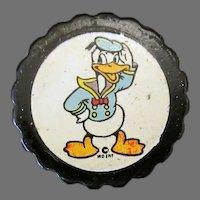 Vintage Catalin/Bakelite Pencil Sharpener with Donald Duck Decal