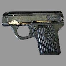 Little Vintage Pencil Sharpener - Pistol with Eraser Holder - Large Version